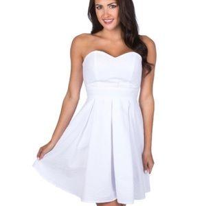 Lauren James Corbin Seersucker Strapless Bow Dress